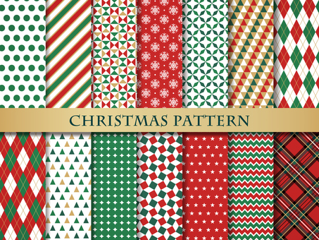 Christmas color seamless pattern