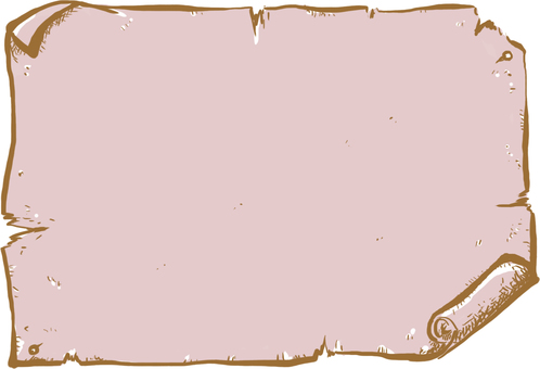 A paper frame that seems to write an old treasure map Pink