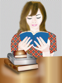 Woman reading 10