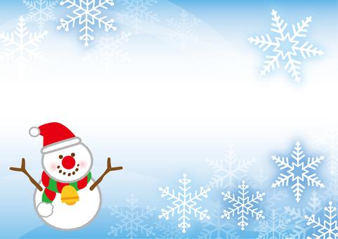 Winter snow Snowman