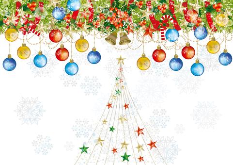 Christmas wreath & snow 27
