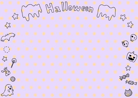 Halloween frame dot background