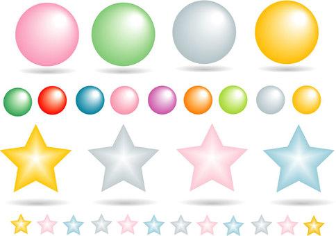 Round and stars