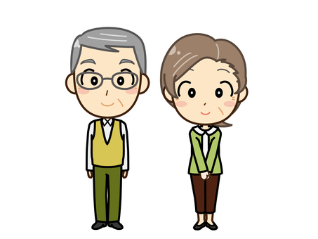 Senior man and woman _ whole body