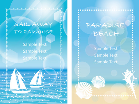 Summer Background 3 2 Pieces Set