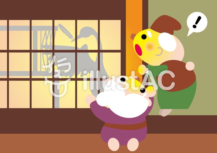 日本昔話鶴の恩返し2イラスト No 518703無料イラストなら