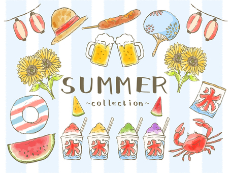 Illustrations that let you enjoy summer!