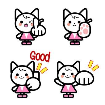 단순 고양이 캐릭터 세트
