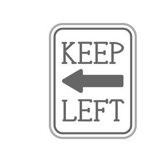 標識(左側通行)