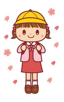 入学式 小学校 女の子