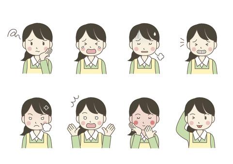 Female facial expression 04