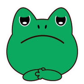 Frog - dissatisfied face