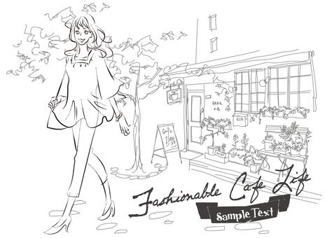 A woman taking a fancy cafe