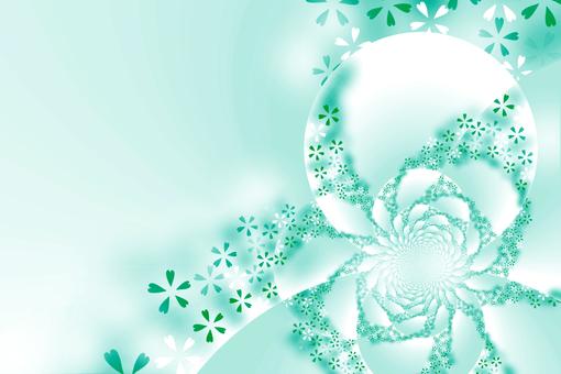 Background material · Sakura (green)