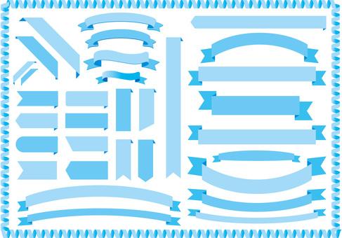 Light blue ribbon frame frame background Wallpaper Ribbon decoration