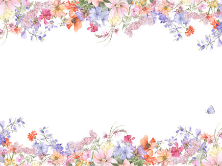 Flower frame 159 - Flower frame frame of various flowers