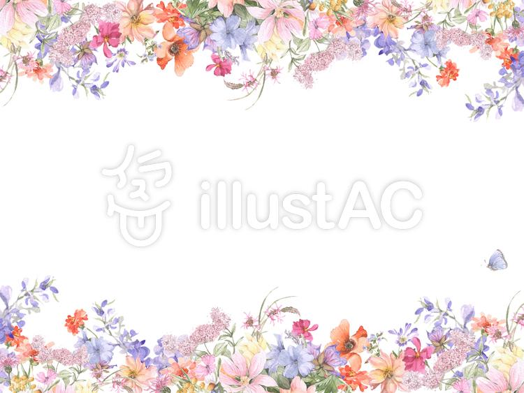 花枠159いろんな花の花枠フレームイラスト No 780300無料