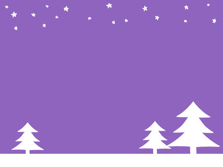 Winter scenery color (purple)