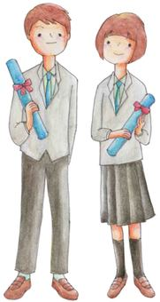 Graduation (high school student and male)
