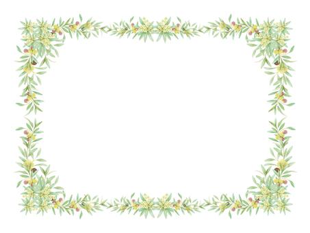 Olive decorative frame ★ 0360-F