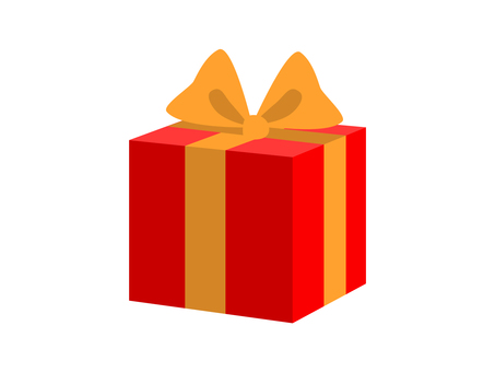 Gifts (red box and yellow ribbon)