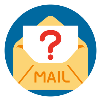 Inquiry / question mail icon