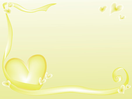 Heart Frame 1 Yellow Background color only