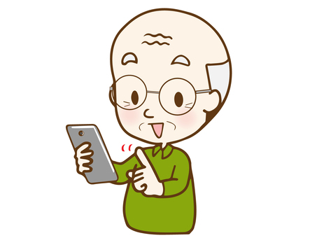 Smartphone 12 (grandfather operating with smile) AC