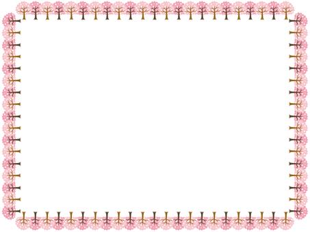 벚꽃 나무 프레임 2