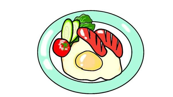Breakfast brunch fried egg