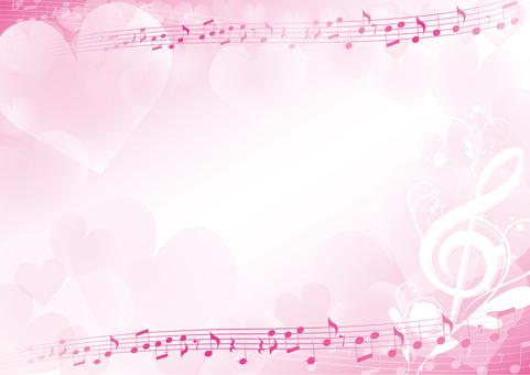 하트의 우아한 음악 프레임