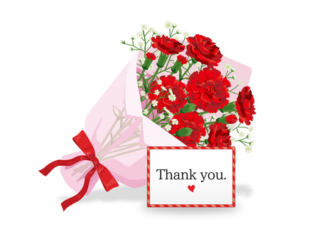 Mother's Day Carnation Bouquet and Card