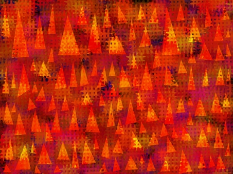 Triangle forest (autumn leaves)