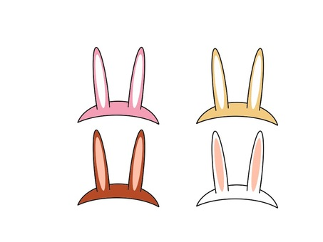 Rabbit ear hat set