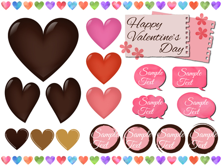 Heart Valentine Material