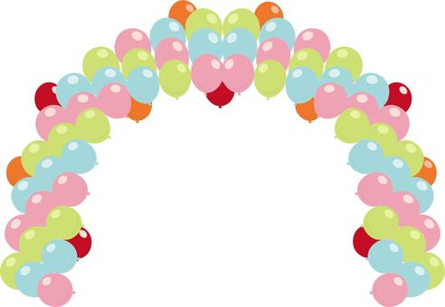 Balloon arch colorful