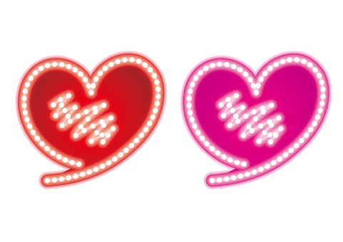 Heart · neon sign set B