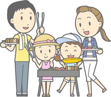 가족 바베큐