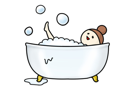 Bathtub bubble bath