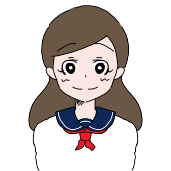 Female student in a sailor suit