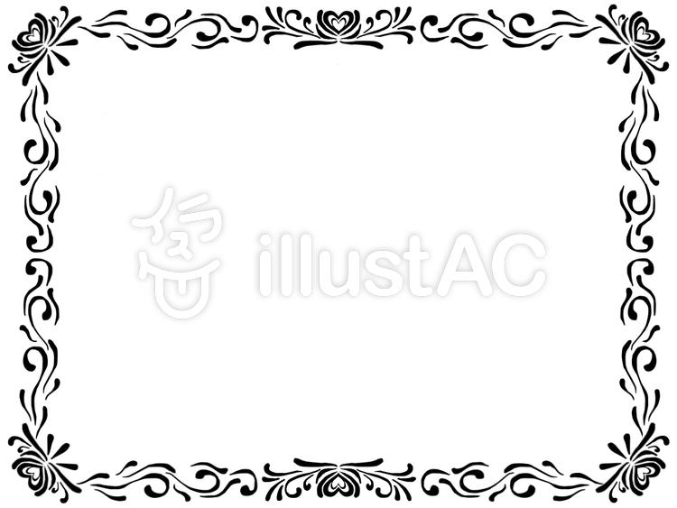 蔓フレーム黒のイラスト
