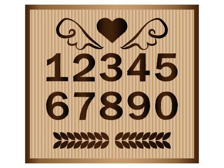 Numeric set brown