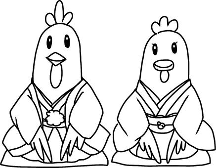 Tora anniversary illustration (line drawing)