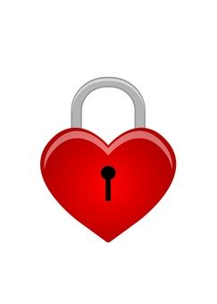 Heart shaped key (red)
