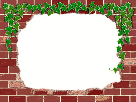 Retro red brick and Ivy's frame