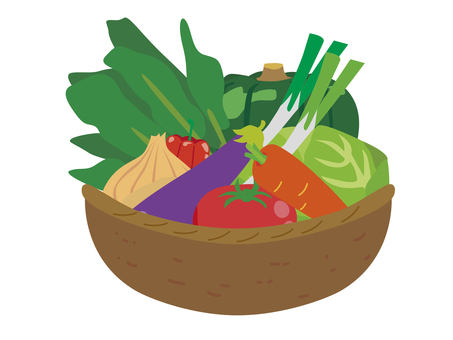Vegetable Kagoromon Set Illustration