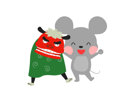 Mouse and Lion Dance