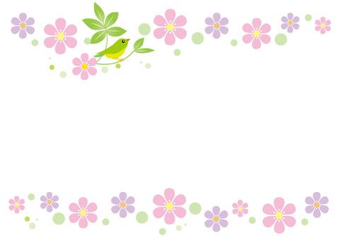 Flower and bird frame