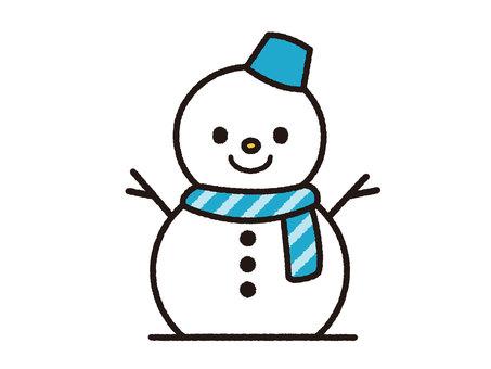 Snowman (Blue)