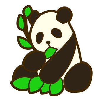 Eating bamboo panda